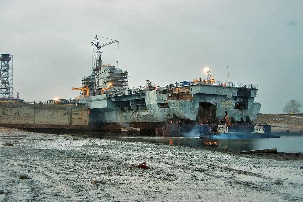 Корма ТАКР «Адмирал Горшков»