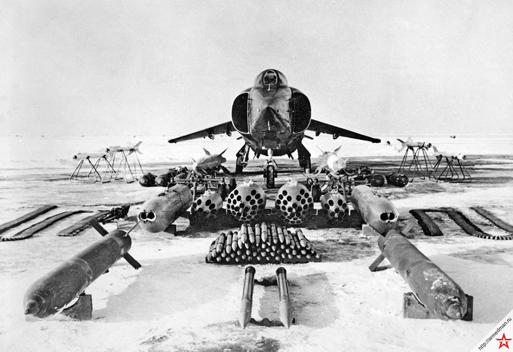 Арсенал вооружения пригодного для размещения на корабельном самолете вертикального взлета Як-38