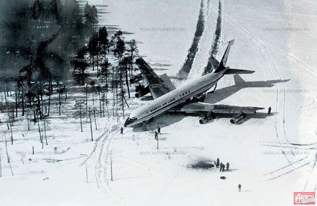 Южнокорейский «Боинг-707» на льду озера Корпияври, 20 апреля 1978 г.