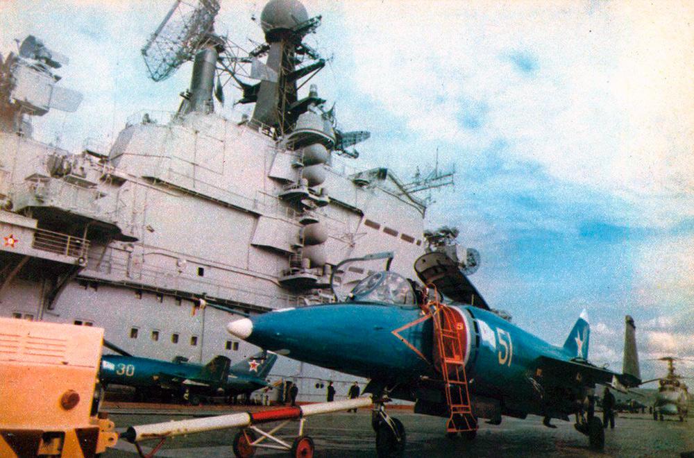 На палубе «Киева», середина 1980-х г.г.