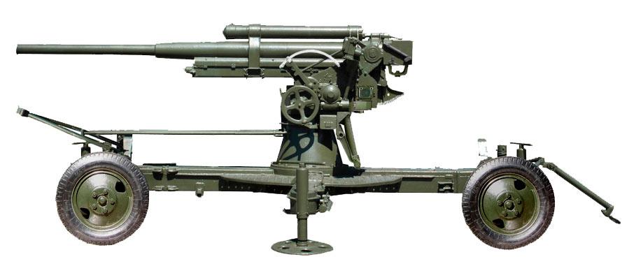 Советская 76-мм зенитная пушка образца 1938 года