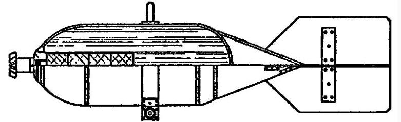 Советская 25-кг химическая авиабомба ХАБ-25