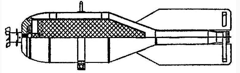 Советская 25-кг химическая авиабомба ядовитого дыма КРАБ-25яд