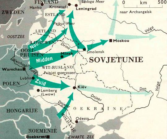 Гитлеровский план «Барбаросса» по состоянию на 18.12.1940 г.
