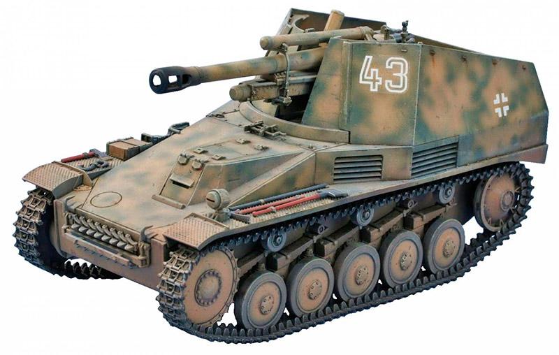 Немецкая самоходная 105-мм гаубица «Wespe» (Sd.Kfz.124)