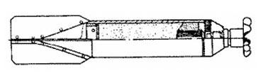 Внешний вид 2,5-кг зажигательной авиабомбы (ЗАБ-1Э)