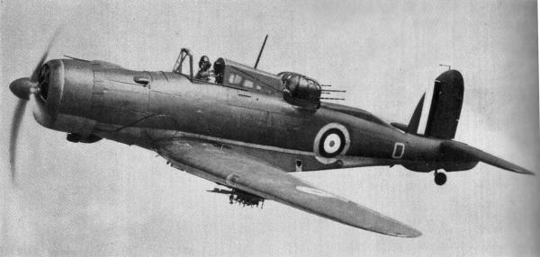 Британский пикировщик/истребитель B-25 Roc -одна из загадок авиастроения.